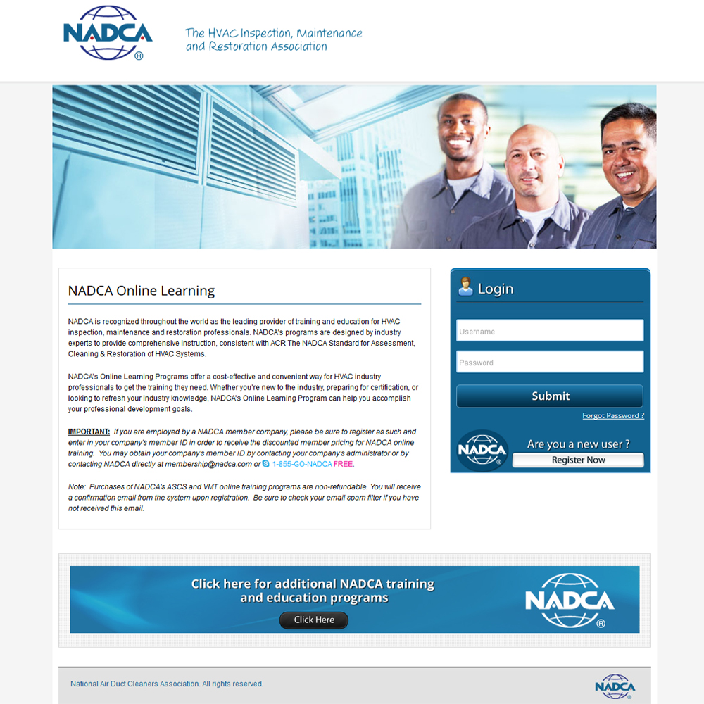 NADCA Training
